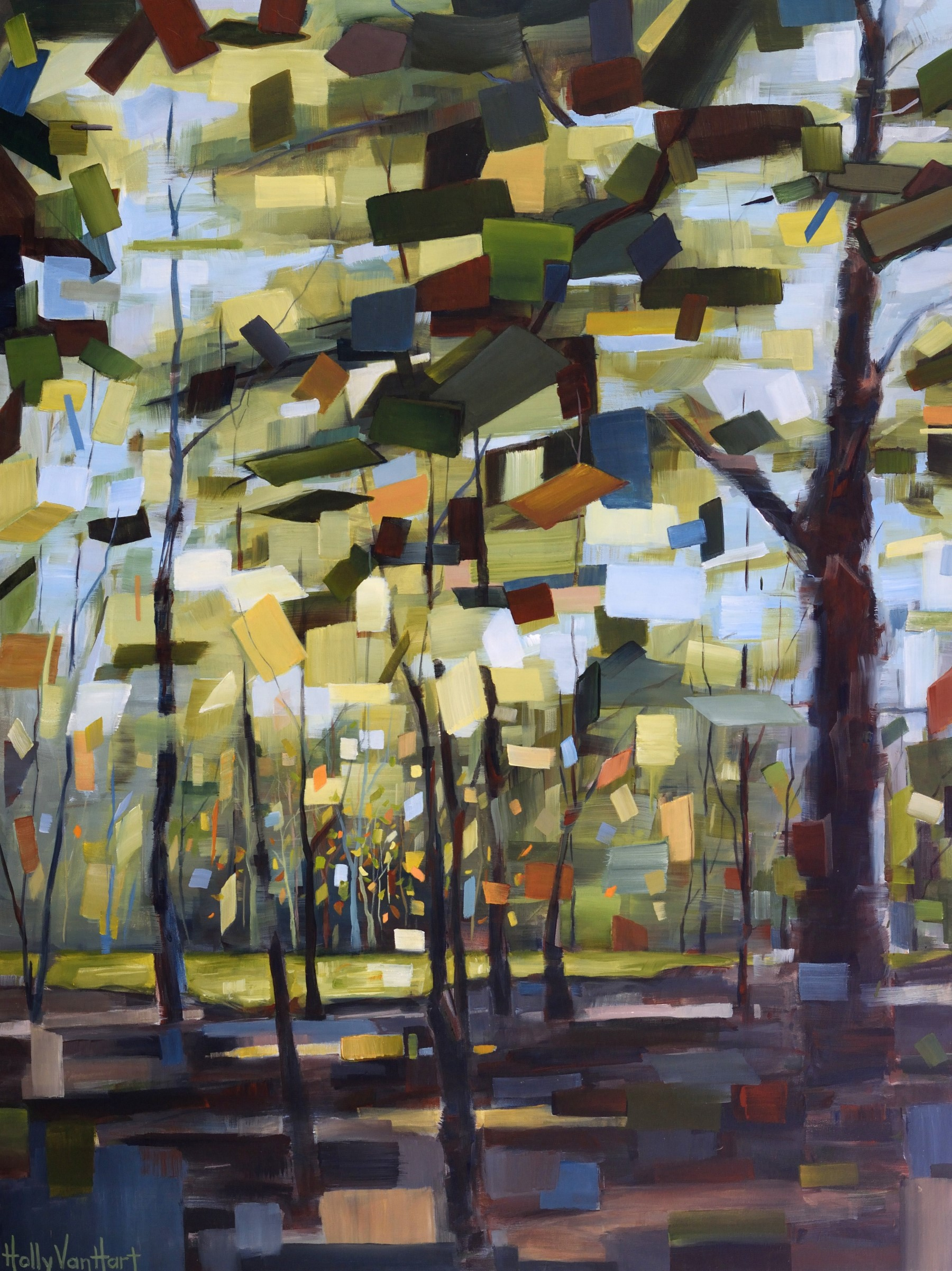 Abstract landscape paintings - Holly Van Hart artist