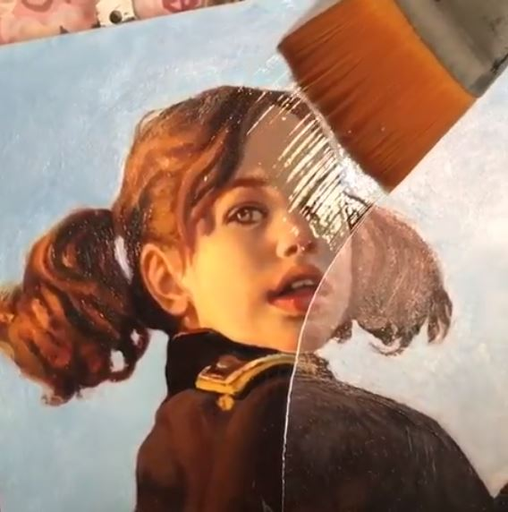 Using varnish for an oil painting - Pamela Wilson - RealismToday.com