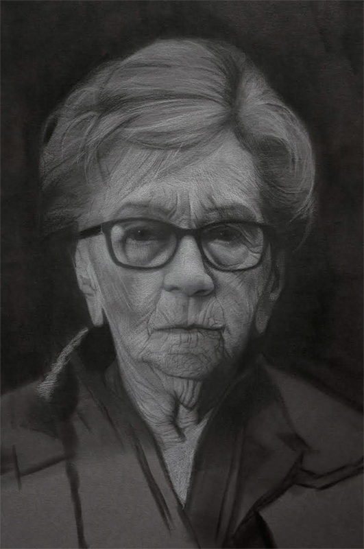 Charcoal drawing - David Kassan - RealismToday.com