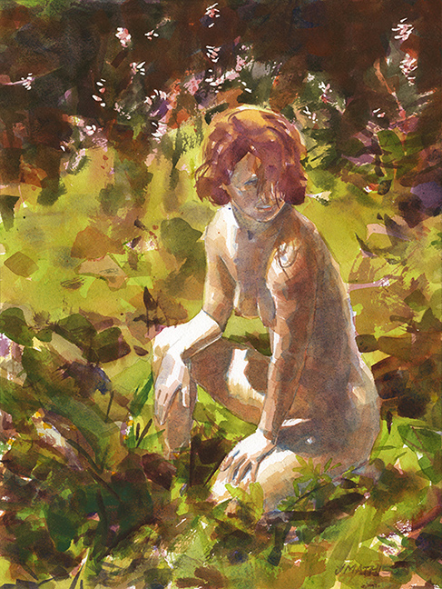Painting the figure outdoors - Jeff Mathison - RealismToday.com
