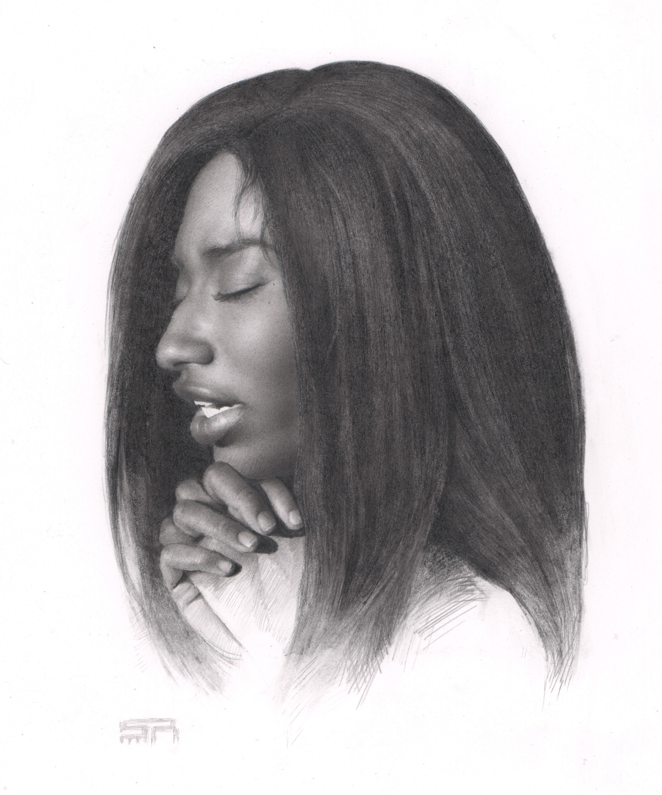 Graphite portrait drawing - Stanley Rayfield - RealismToday.com