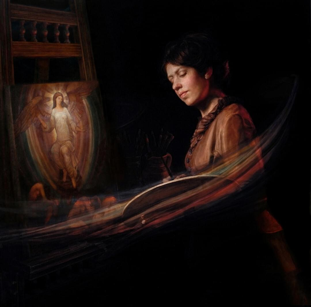 Contemporary realism narrative paintings