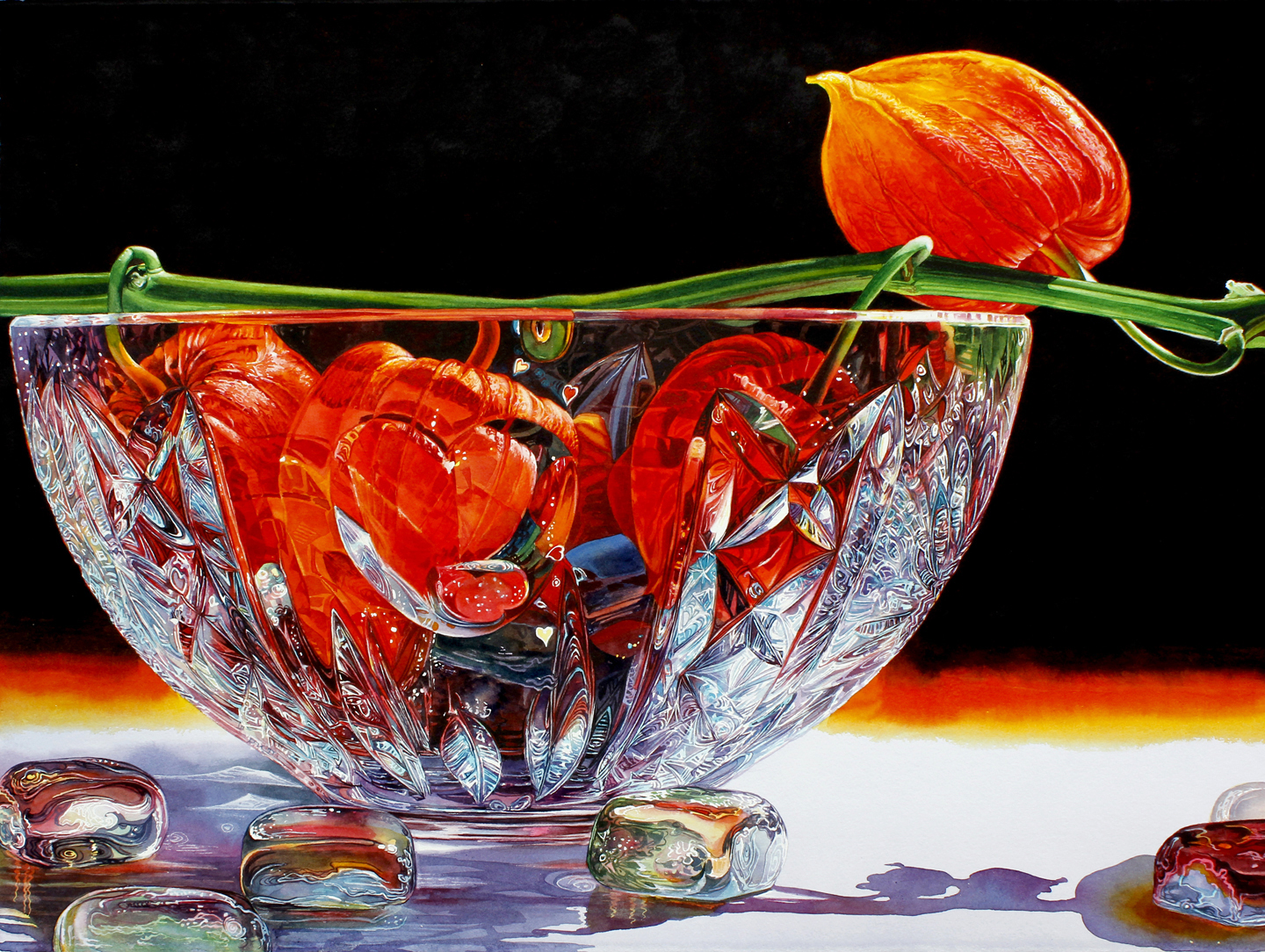 Contemporary realism watercolor painting