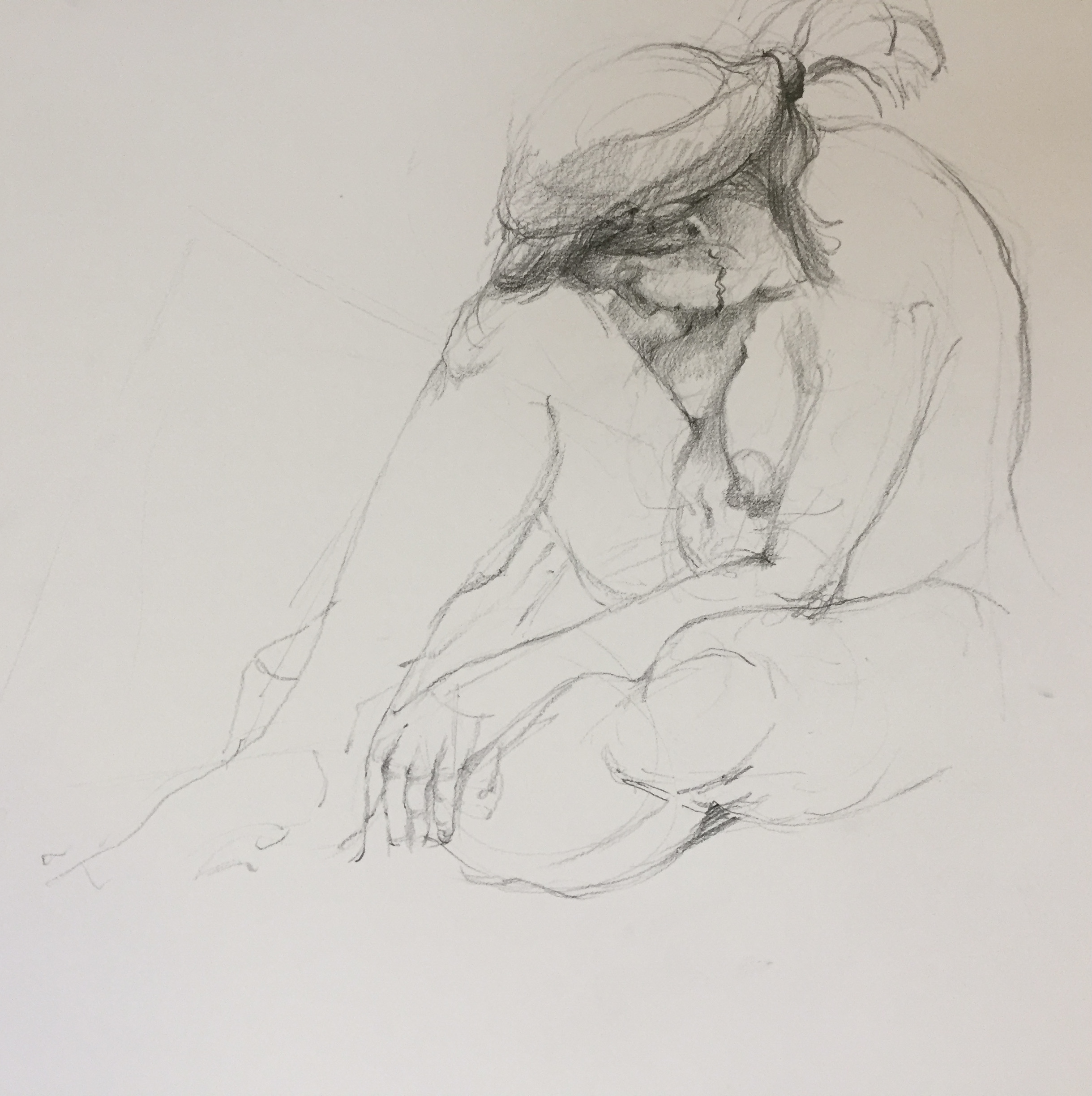 Contemporary figurative art drawing