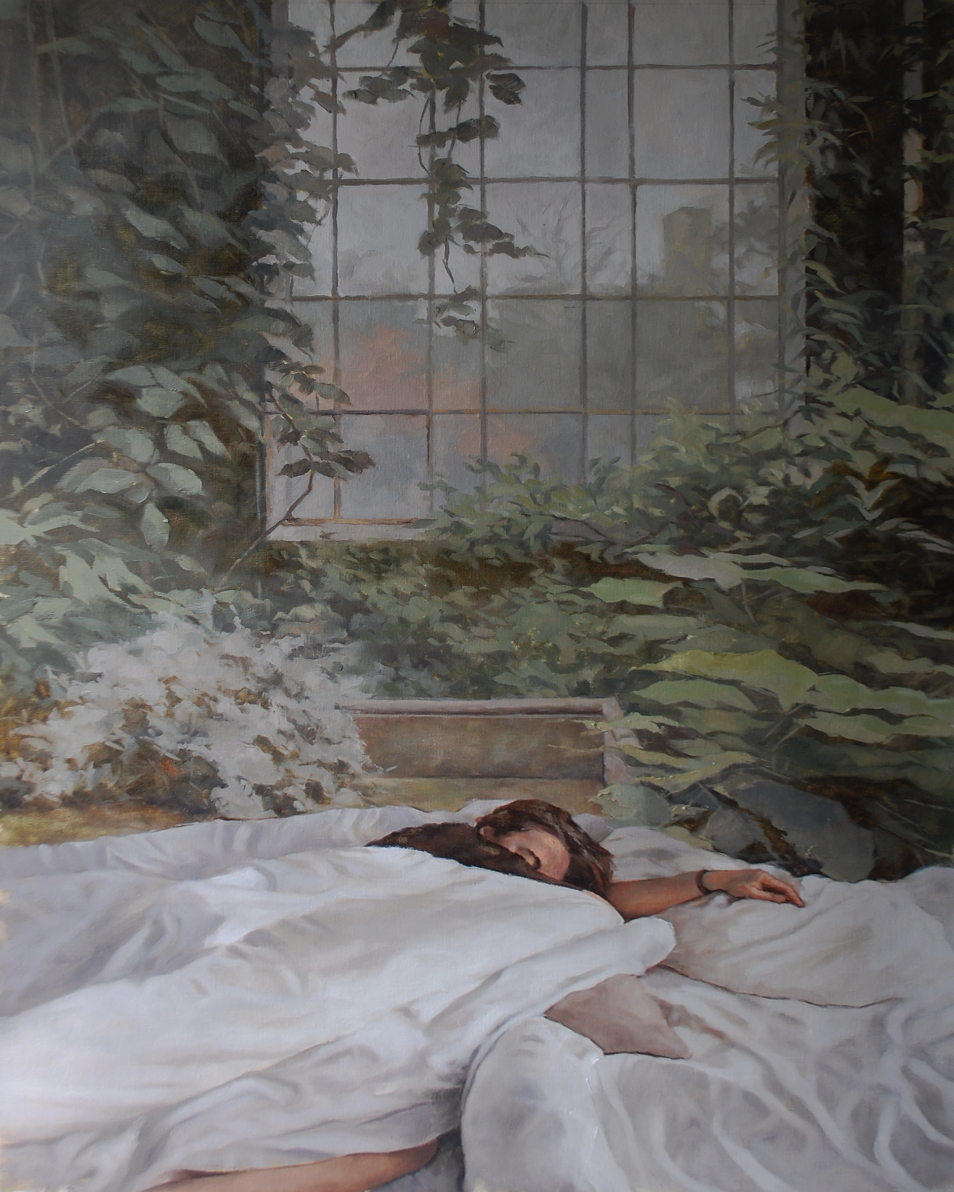 Painting of a woman sleeping