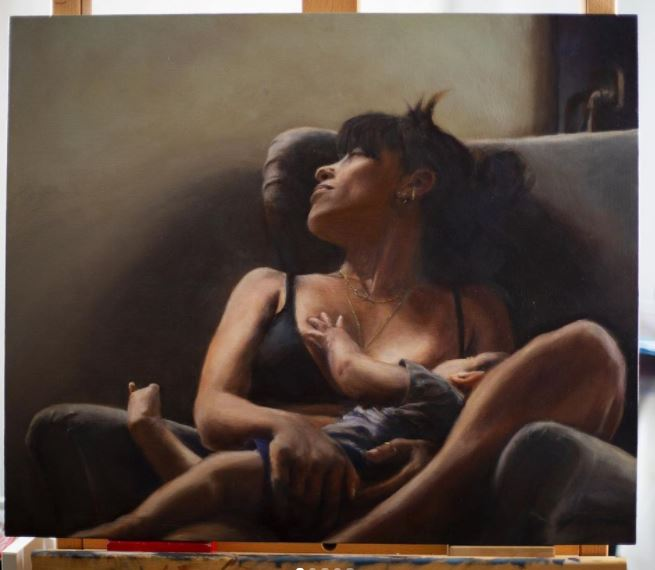 Paintings of mothers with children