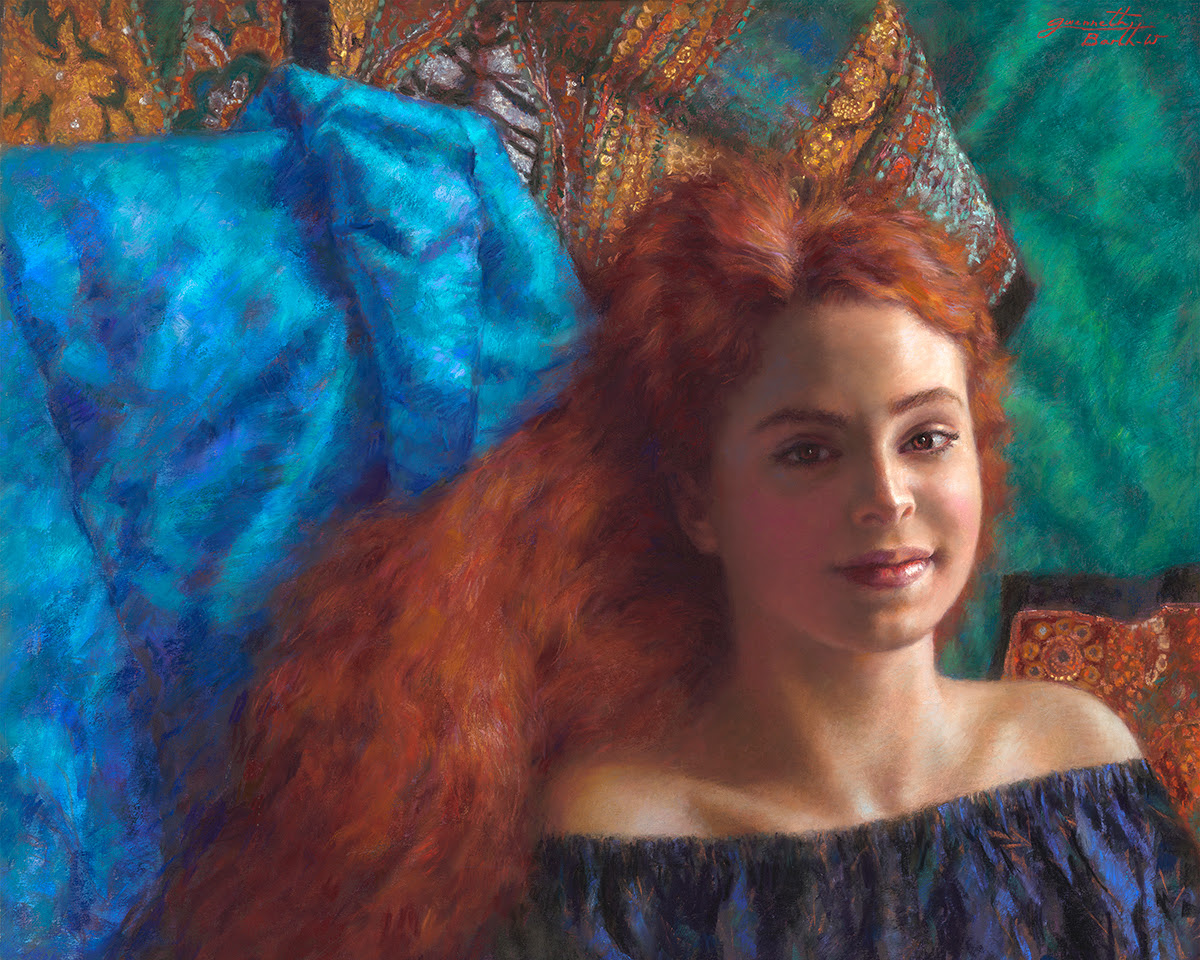 How to paint hair - Portrait paintings by Gwenneth Barth-White